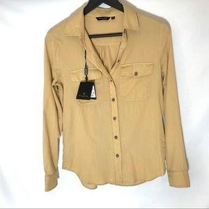 Massimo Dutti Long Sleeve Button Down Shirt